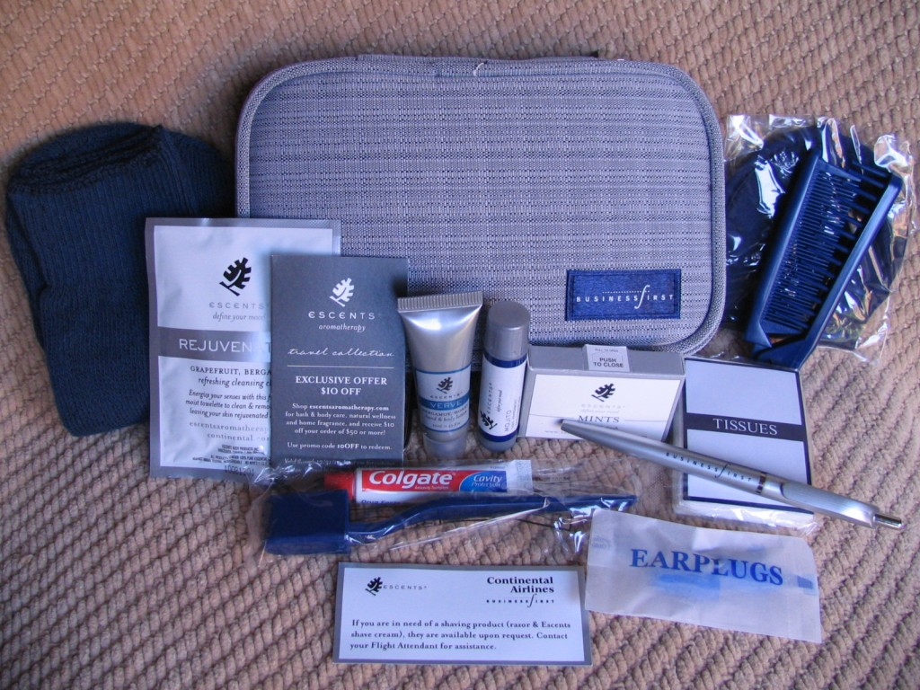 Airline regulations, Packing for air travel continental kit