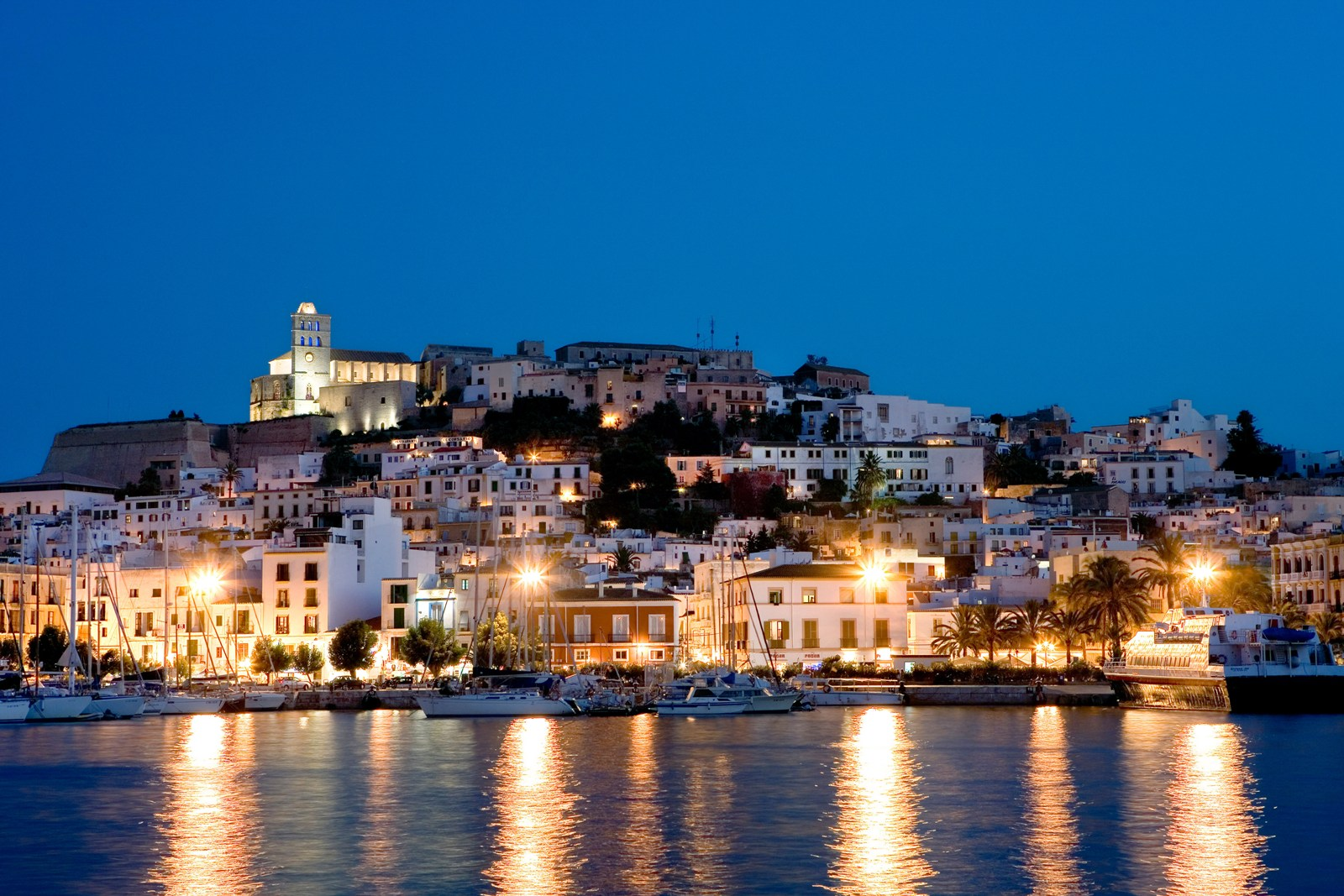 Ibiza Spain Hotels Overview At Night