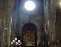 Braga Cathedral, Portugal, Light trough the rose window