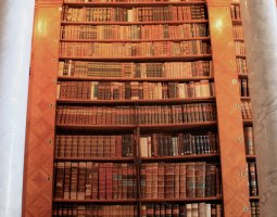 Pannonhalma Archabbey, Hungary, Europe, Library shelf with books
