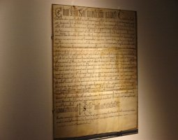Pannonhalma Archabbey, Hungary, Europe, Old manuscripts exposed in library