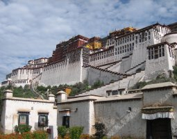 Potala Palace, Tibet, China, Lateral view
