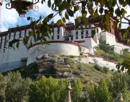 Potala Palace, Tibet, China, Side walls view